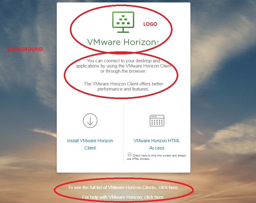 Customizing VMware Horizon Connection Server Login Screen | Nick's